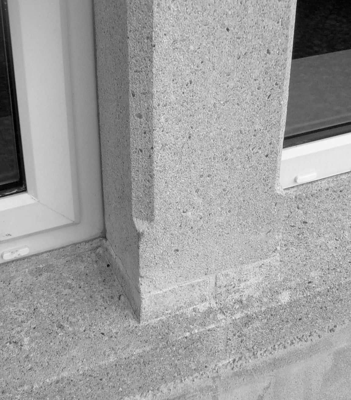 Wilson Dwelling - View of Stone Window Cills