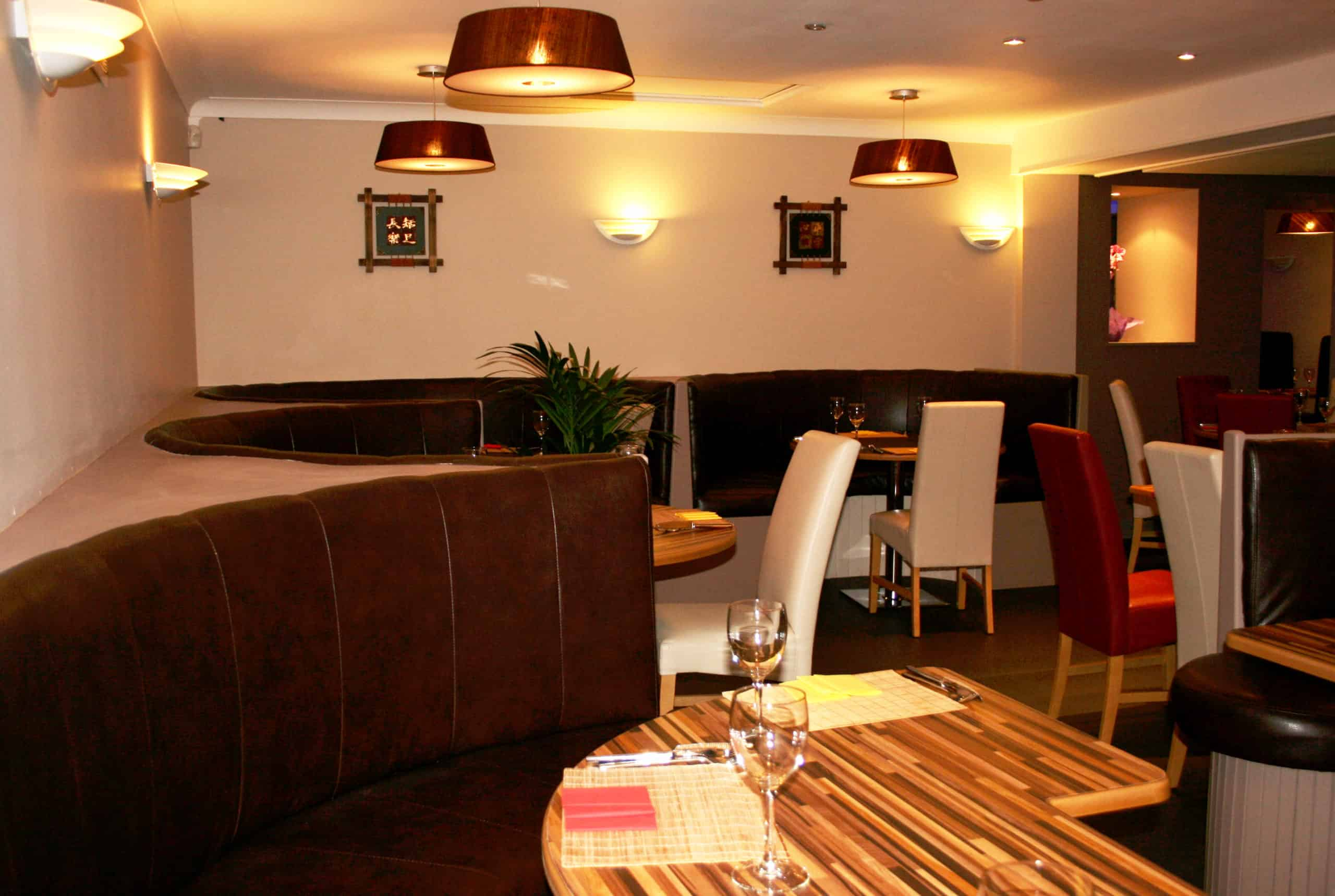 Jackie Huang Restaurant Irvinestown - View From Curved Seats