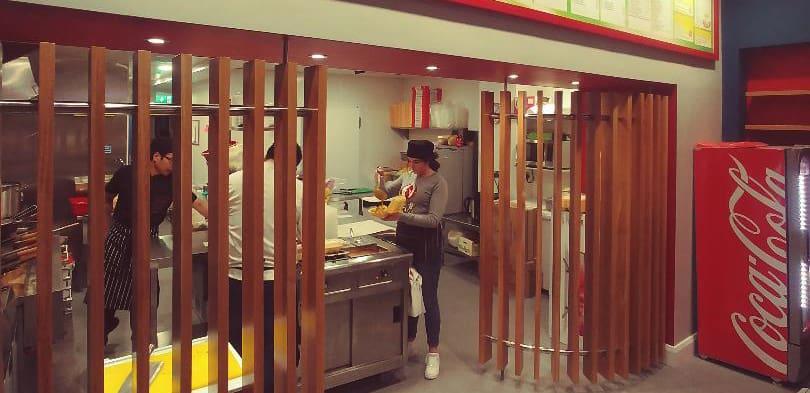 Hot Wok Takeaway Enniskillen - Internal Timber Slatts