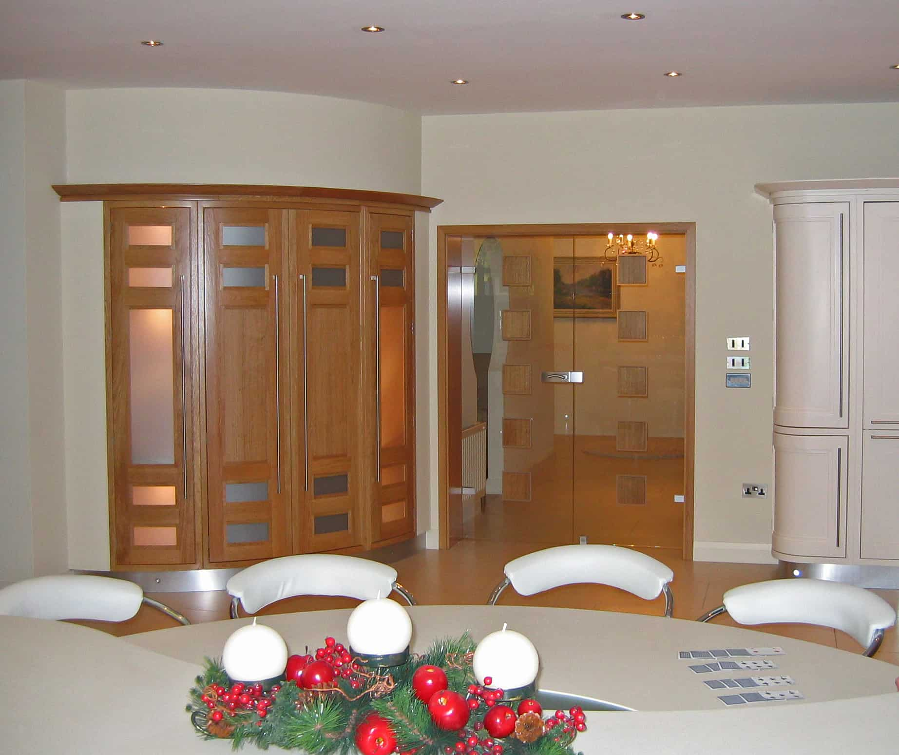 Mullen Extension - View form Behind Kitchen Island To Glass Doors