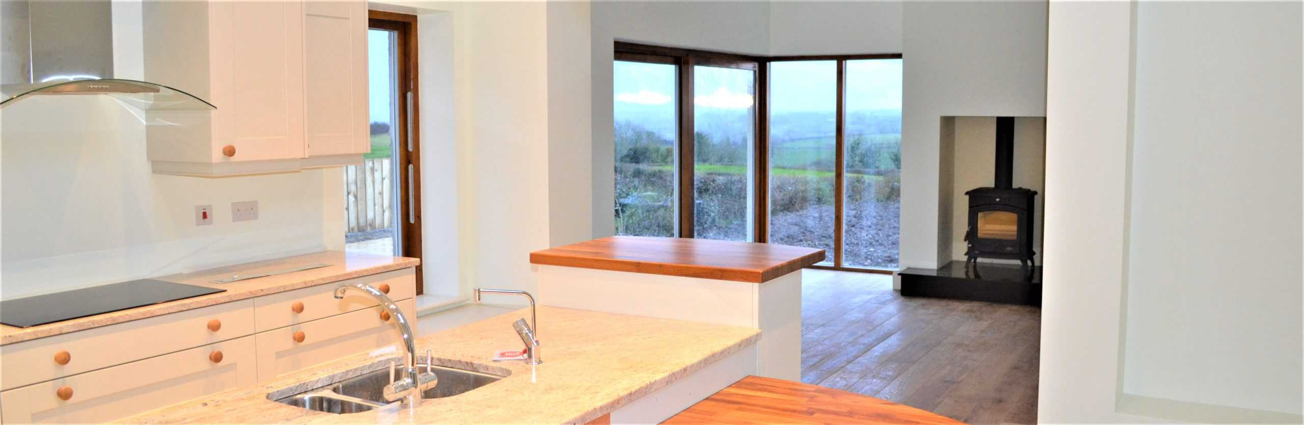 Quigg Dwelling - View From Kitchen Island Into Snug