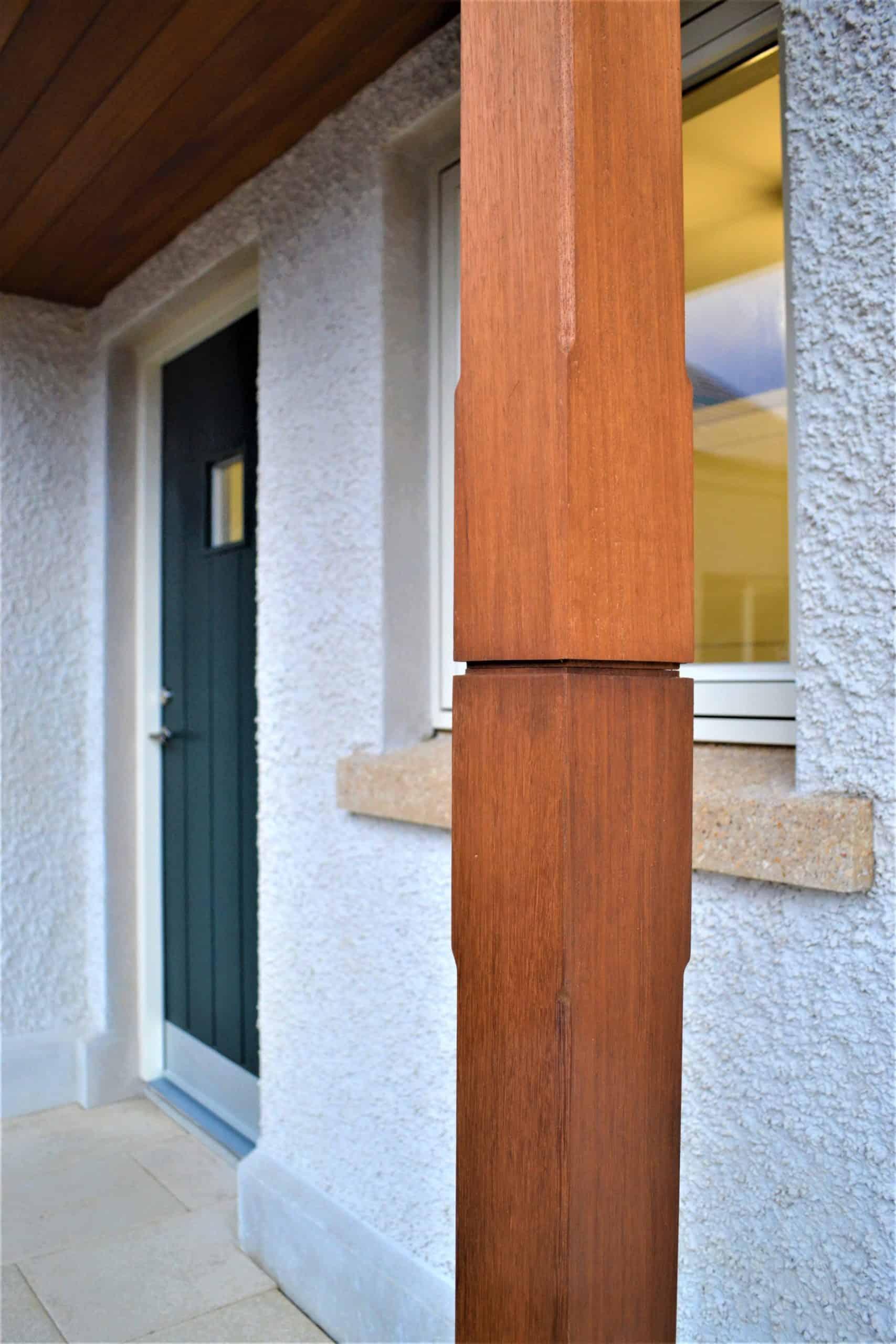 Quigg Dwelling - Timber Porch Post Detail