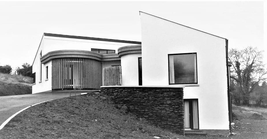 Keown Dwelling - Driveway View Entrance Elevation