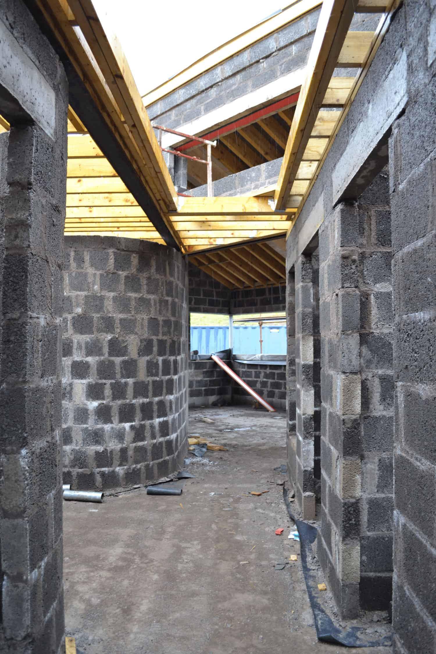 Keown Dwelling - Hallway Under Construction