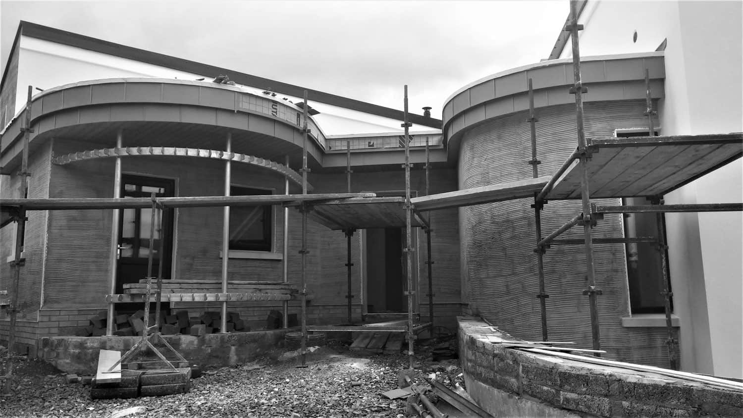 Keown Dwelling - Zinc Curved Porch Construction