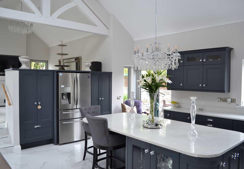 Fleming Dwelling - Inset Kitchen Fridge Freezer & Larder Units, Timber Feature Truss & Corner Window