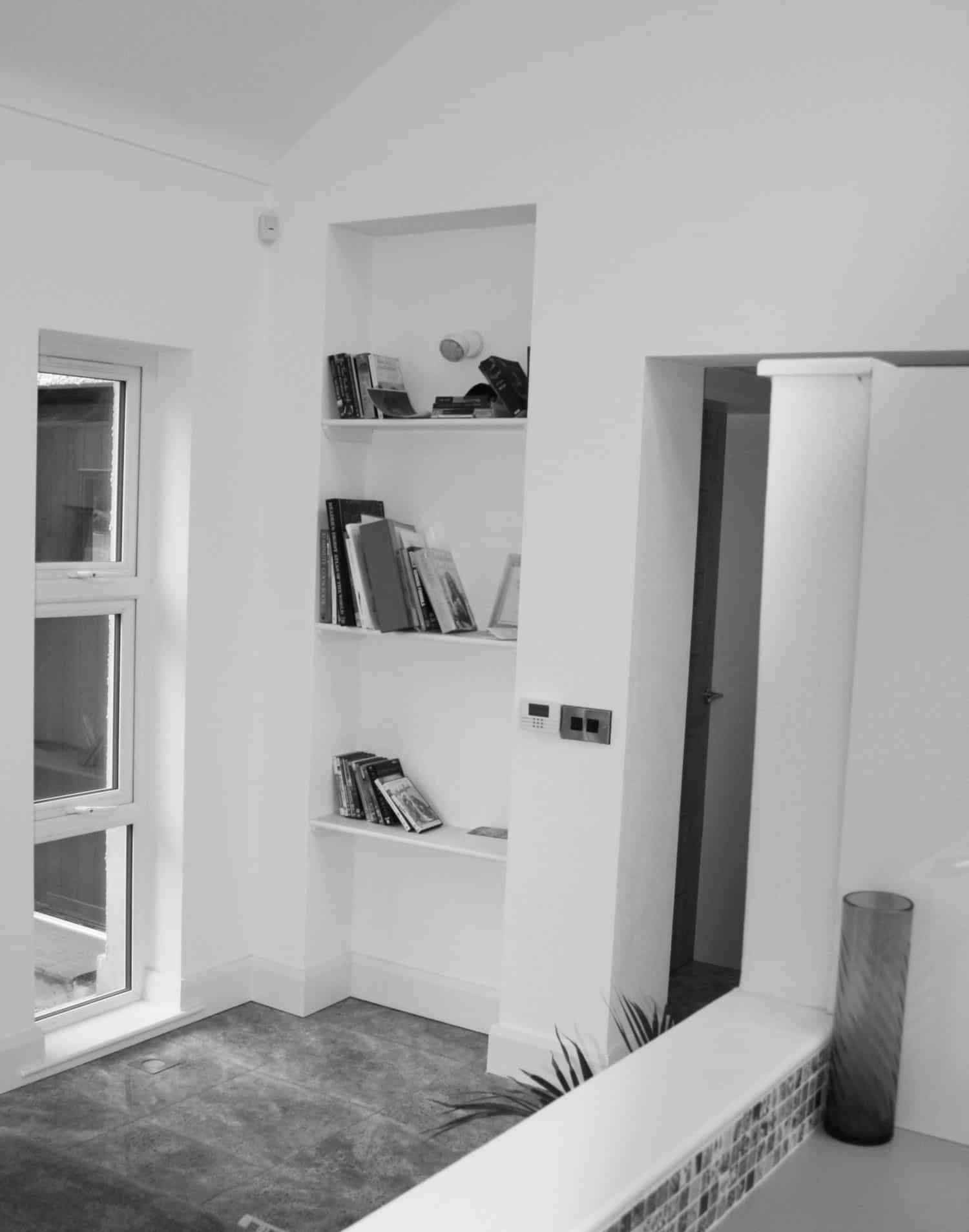 Nagi Dwelling -Internal Built In Shevles B&W