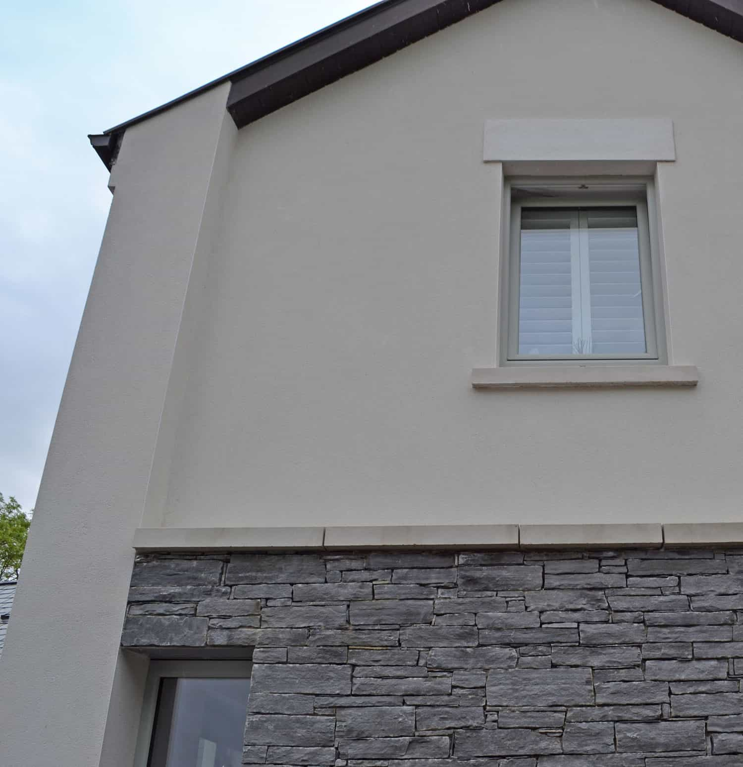 Fleming Dwelling - K rend render and McMongale Stone Panel
