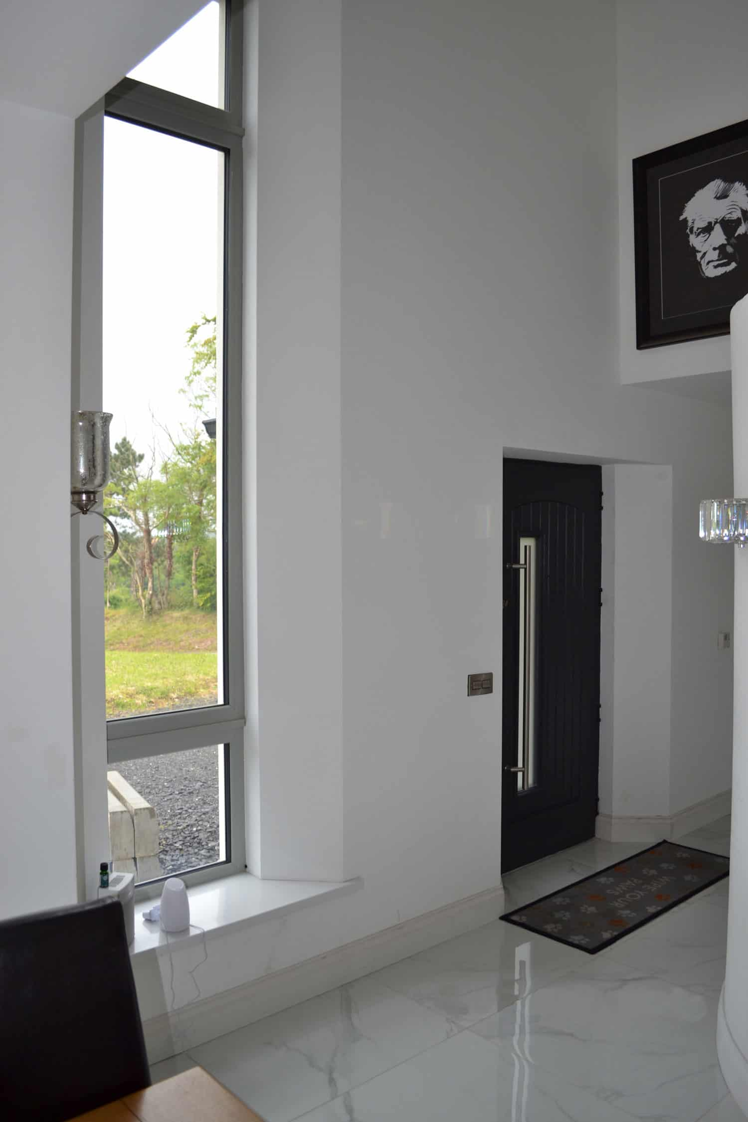 Fleming Dwelling - Main Entrance Door & Feature Window into Hallway