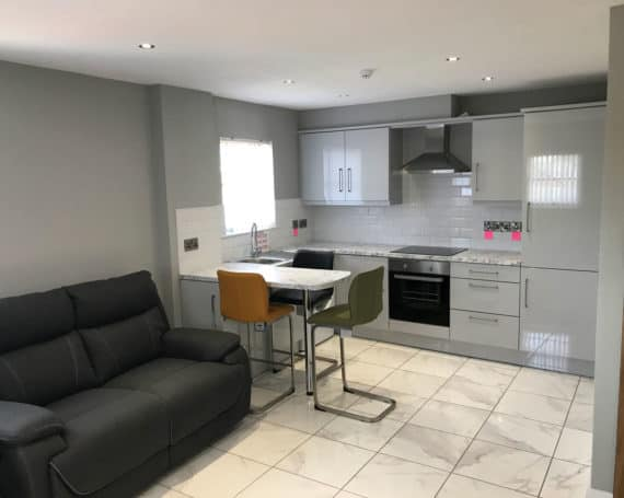 Apartment Living & Kitchen Area Enniskillen