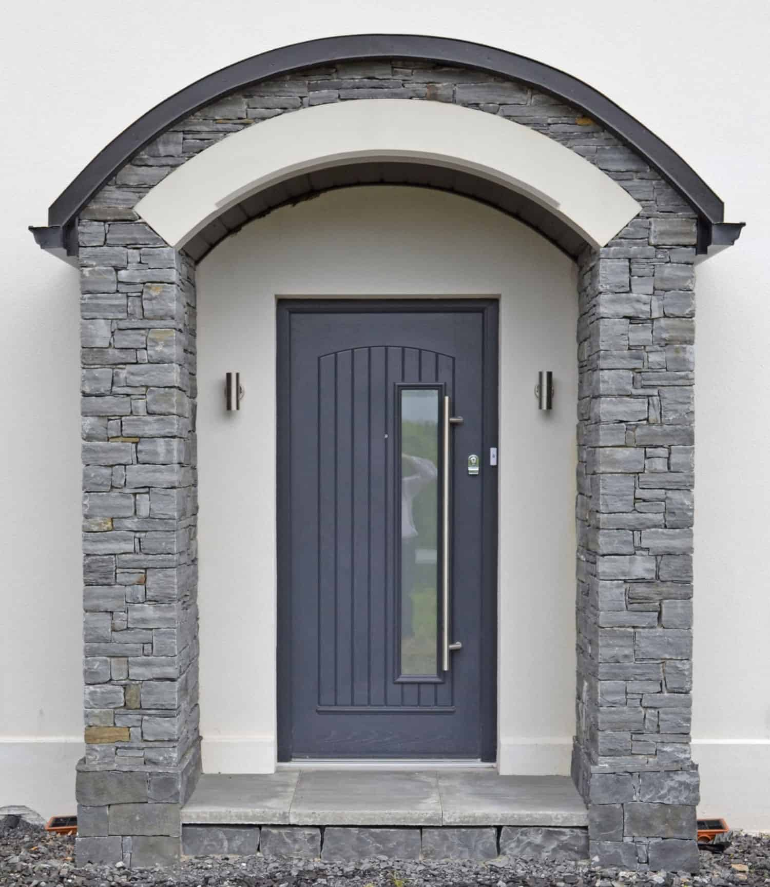 Fleming Dwelling - Stone Curved Porch & Composite Door